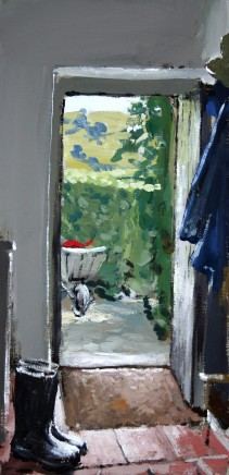 Matthew Wood, Interior at Llanarmon D.C. View to the Garden