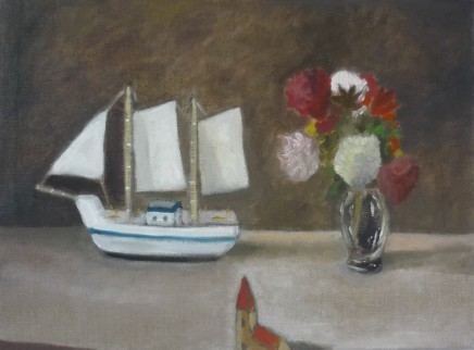 Emrys Williams, Flowers, Boat and Church