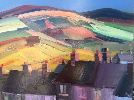 Sarah Carvell, Rooftops in Shadows and Clwydians Beyond