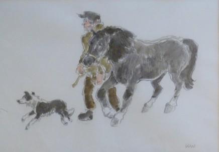 Kyffin Williams, Farmer & Cob, 2005