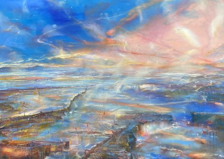 Iwan Gwyn Parry, Harbour Lights with distant Cambrian Dawn