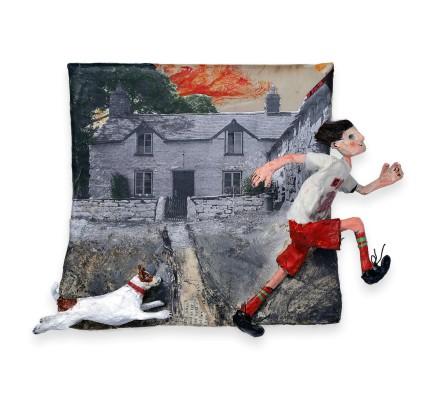 Luned Rhys Parri, Ci, Ffermdy a chrys Cymru / Dog, Farmhouse and Wales T-shirt
