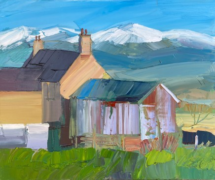 Sarah Carvell, Farm with View of Snowdonia