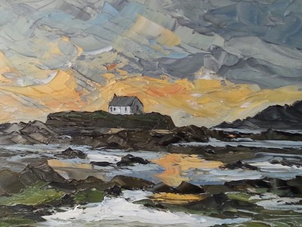 Martin Llewellyn, St Cwyfan's Church at Sunset