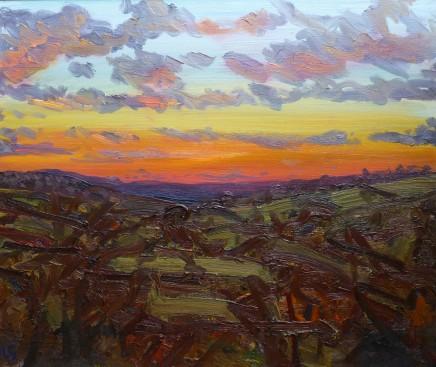 David Lloyd Griffith, Rainbow Sunset over Dyffryn Conwy (from Llysfaen)