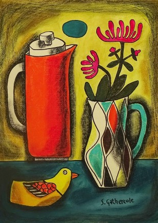 Susan Gathercole, Still Life with Flame Coffee Pot