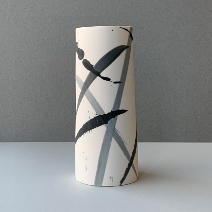 Ali Tomlin Cylinder - Grey Splash Porcelain AT12