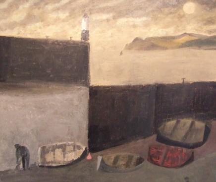 Nicholas Turner RWA, Fisherman and Moon