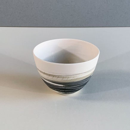 Ali Tomlin AT10 - Small Cup/Bowl, Olive and Black Porcelain 6 x 9 cm