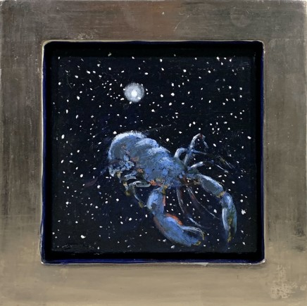 Julie Fleming Williams Lobster I Oil on canvas 15 x 15 cm