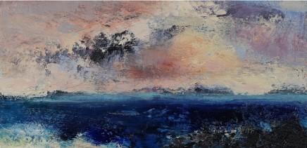 Nicola Rose Iona Oil and sand on canvas 30 x 60 cm