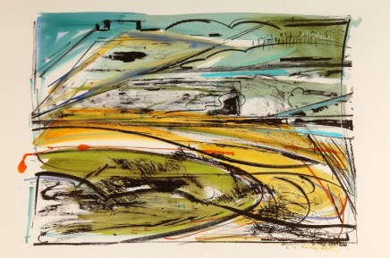 Lucy Farley The Golden Valleys, Gloucestershire Signed limited edition hand-painted lithograph and silkscreen Published 2014, edition of 50 Framed: £790 Image size: 51 x 36 cm Paper size: 76 x 57 cm