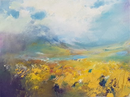 Andrew Kinmont Deep in the Gorse Oil on canvas 30 x 40 cm
