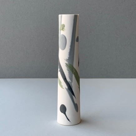 Ali Tomlin Single Stem - Grey and Green Splash Porcelain AT6