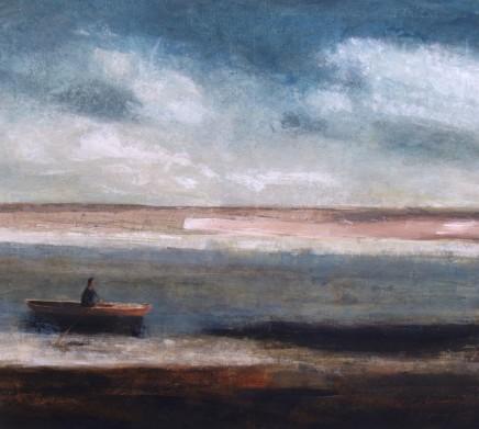 David Brayne RWS Coast Line Pigment and watercolour on canvas 90 x 100 cm