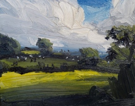 Robert Newton An Old Landscape Oil on canvas 24 x 30 cm