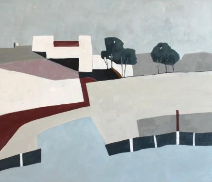 Teresa Lawton The Modern House Oil on canvas 30 x 35 cm