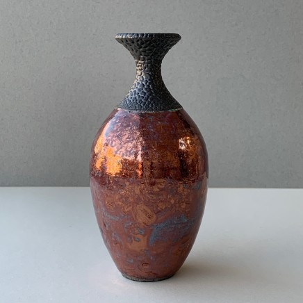 Keith Menear Raku Bottle Luster Glaze Ceramic 15 x 7 cm 1810-3