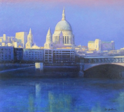 Terence Gilbert St. Paul's and the City Oil on board 46 x 56 cm