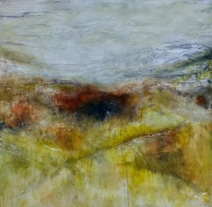 Debra Royston Wild Moors Mixed media on canvas 100 x 100 cm