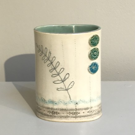 Emer O'Sullivan Small Vase Blue Ceramic