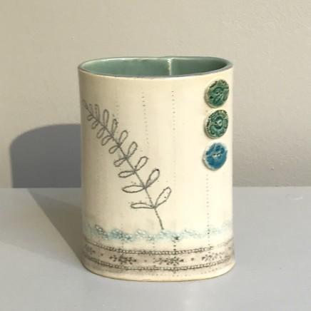 Emer O'Sullivan  Small Vase Blue  Ceramic