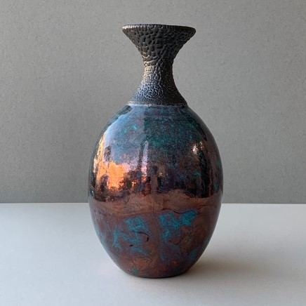 Keith Menear Raku Bottle Luster Glaze Ceramic 18 x 10 cm