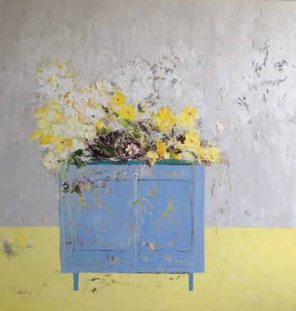 Lorraine Wake Blue Cupboard Oil on canvas 100 x 100 cm