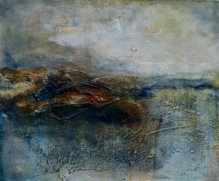 Debra Royston Early Morning Mist Mixed media on canvas 50 x 60 cm