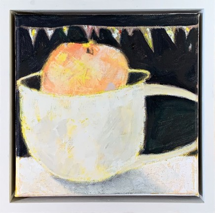 Marilyn Browning Peach Oil on Canvas 20 x 20 cm