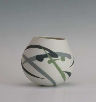 Ali Tomlin Weeble - Green and grey splash Porcelain