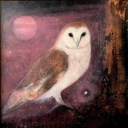 Catherine Hyde Solstice Evening, Owl Song, 2018 Acrylic on canvas 50 x 50 cm
