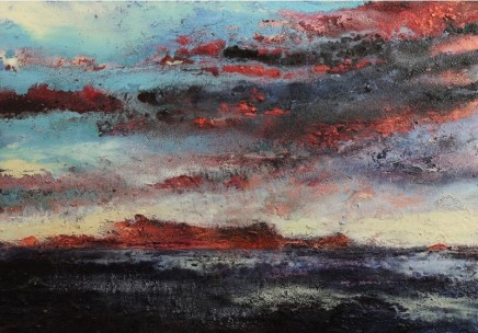 Nicola Rose The Isle of Jura Oil and sand on canvas 70 x 100 cm