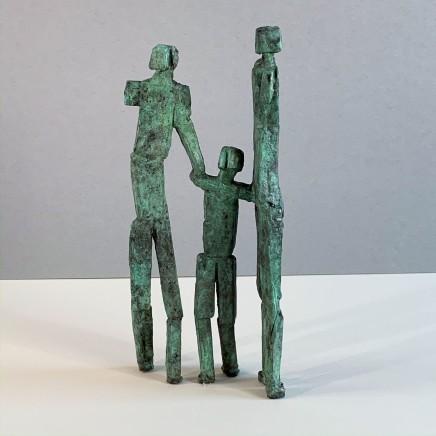 Neil Wood The Family Unique Bronze 2019 30 x 14 cm