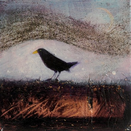 Catherine Hyde Under The Dancing Sky, 2018 Acrylic on canvas 20 x 20 cm