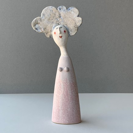 Jane Muir Lady, Light Pink Dress Ceramic 25 x 11 x 4 cm