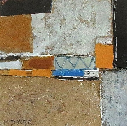 Malcolm Taylor Drumbeat Mixed Media on board 17.5 cm x 17.5 cm