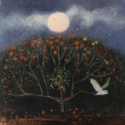 Catherine Hyde At The Orchard Edge, 2018 Acrylic on canvas 30.5 x 30.5 cm