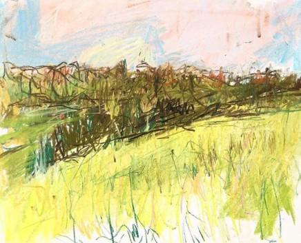 Lara Stafford-Deitsch Surrey Hills Chalk and Pastel on ivorex board 21.1 x 25.4 cm
