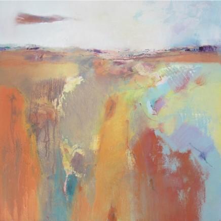 Andrew Kinmont Tangerine Summer Oil on canvas 50 x 50 cm