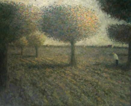 Nicholas Turner RWA, White Figure by Trees