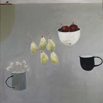 Marilyn Browning Here are a Few of my Favourite Things III Oil on canvas 90 x 90 cm