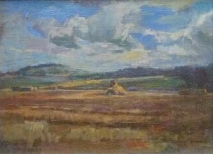 Clemmie St John Webster Landscape Oil on linen 30 x 40 cm