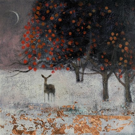 Catherine Hyde Under The Crescent Moon, 2018 Acrylic on canvas 30.5 x 30.5 cm