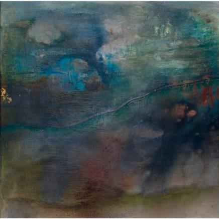 Debra Royston Shadows Mixed media on Canvas 80 x 80 cm