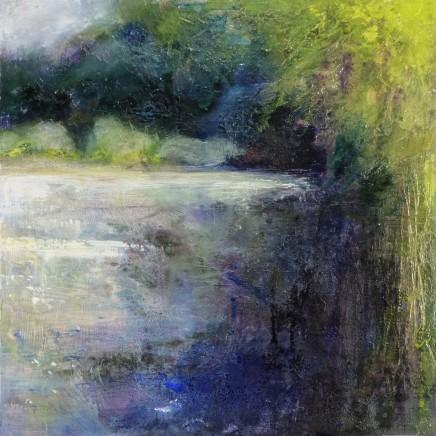 Nicola Rose Waterways Part II Oil on board 50 x 50 cm