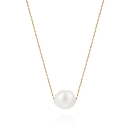 """Gems Minka Floating Pearl Necklace Fresh Water Pearl Fine Gold 9kt Chain 18"""""""