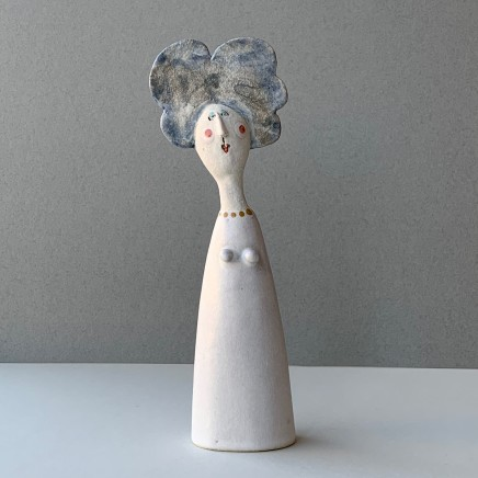Jane Muir Lady, White Dress Ceramic 23 x 6 x 4 cm