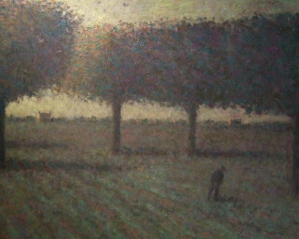 Nicholas Turner RWA, Figure in a Field with Trees