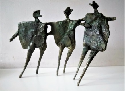 Neil Wood Running Children II, 2017 Bronze 30 x 41 x 9 cm Edition of 9